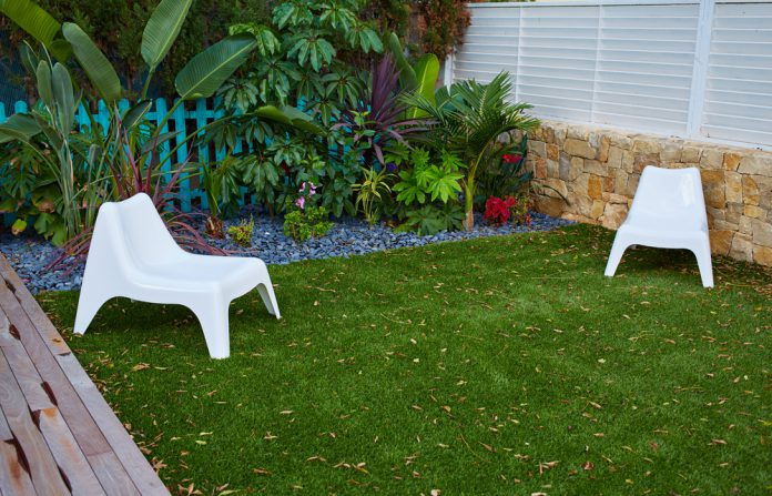 kunstgras in de tuin